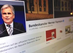 Faymanns Facebook-Seite zählt etwas über 11.000 Likes – noch...