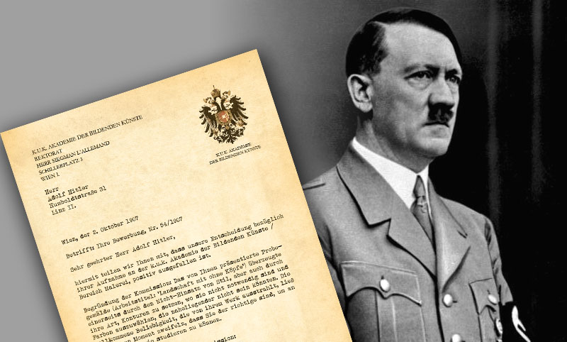 Hitler Aufnahmebestätigung
