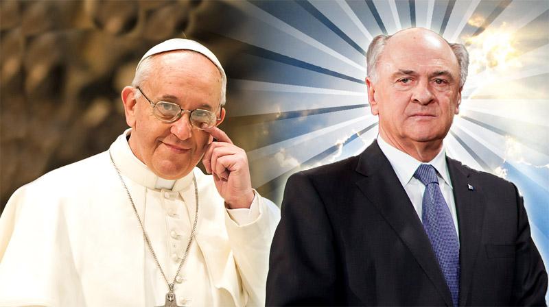 Papst und Erwin Pröll