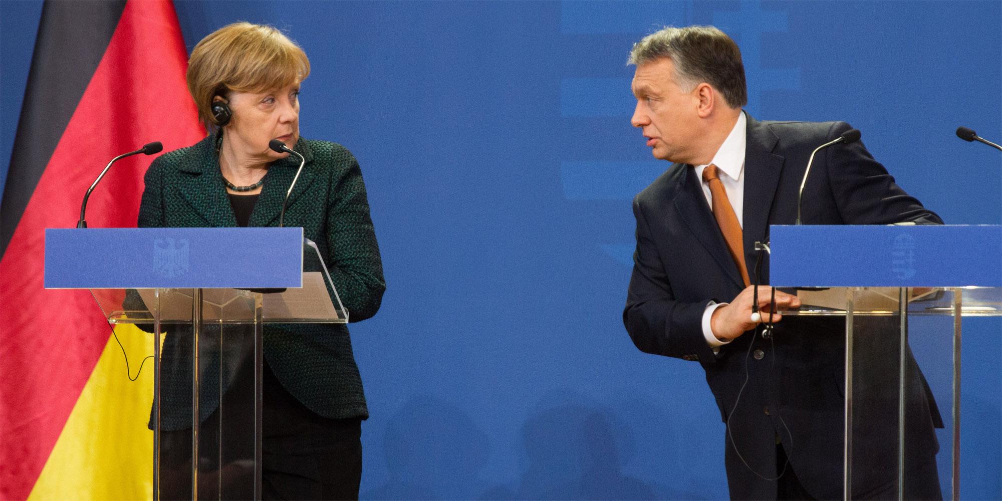 Orbán und Merkel