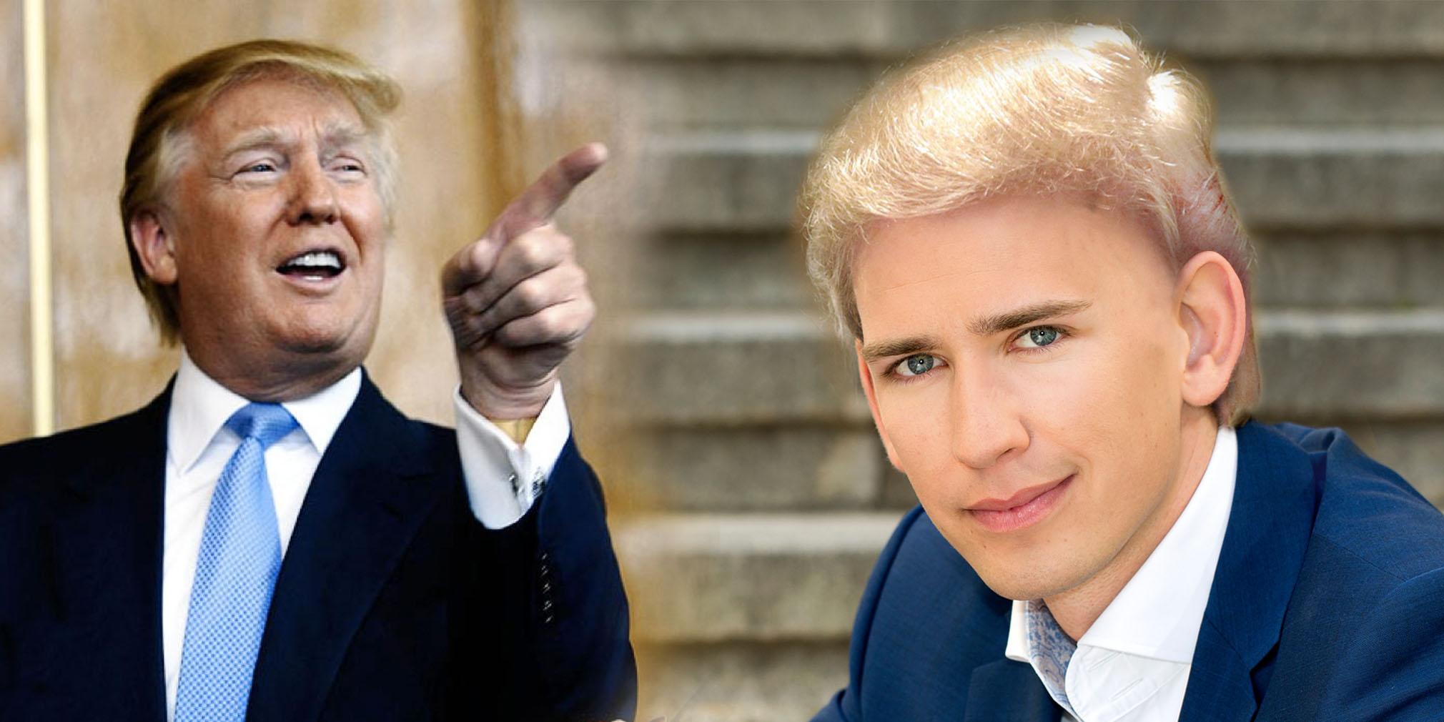 Nur Zufall Sebastian Kurz Lasst Sich Donald Trump Frisur Schneiden