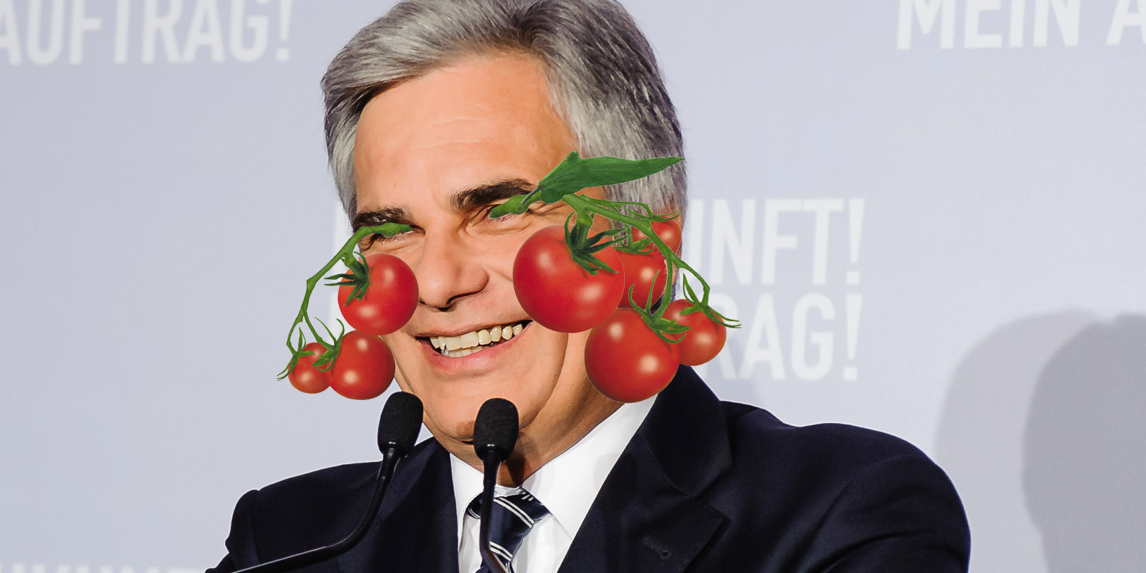Tomaten in Faymanns Augen
