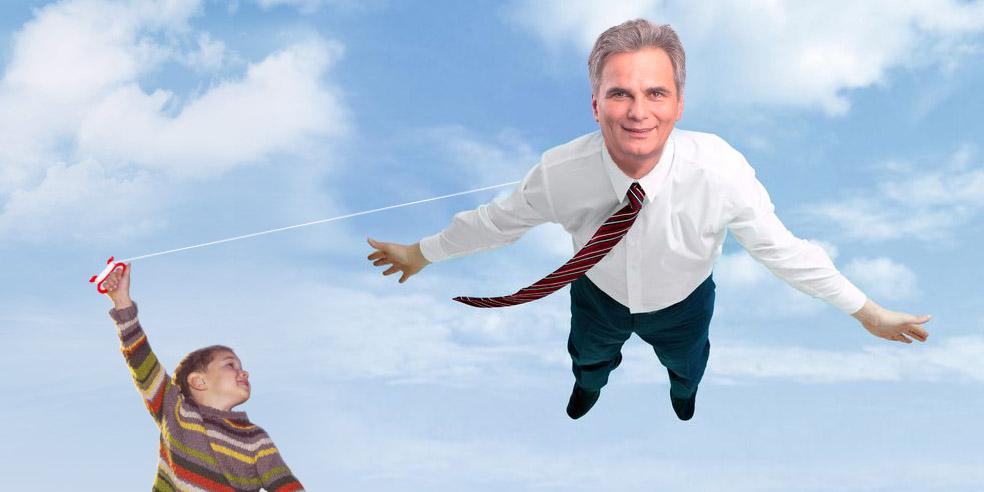 Kind lässt Faymann als Drachen steigen