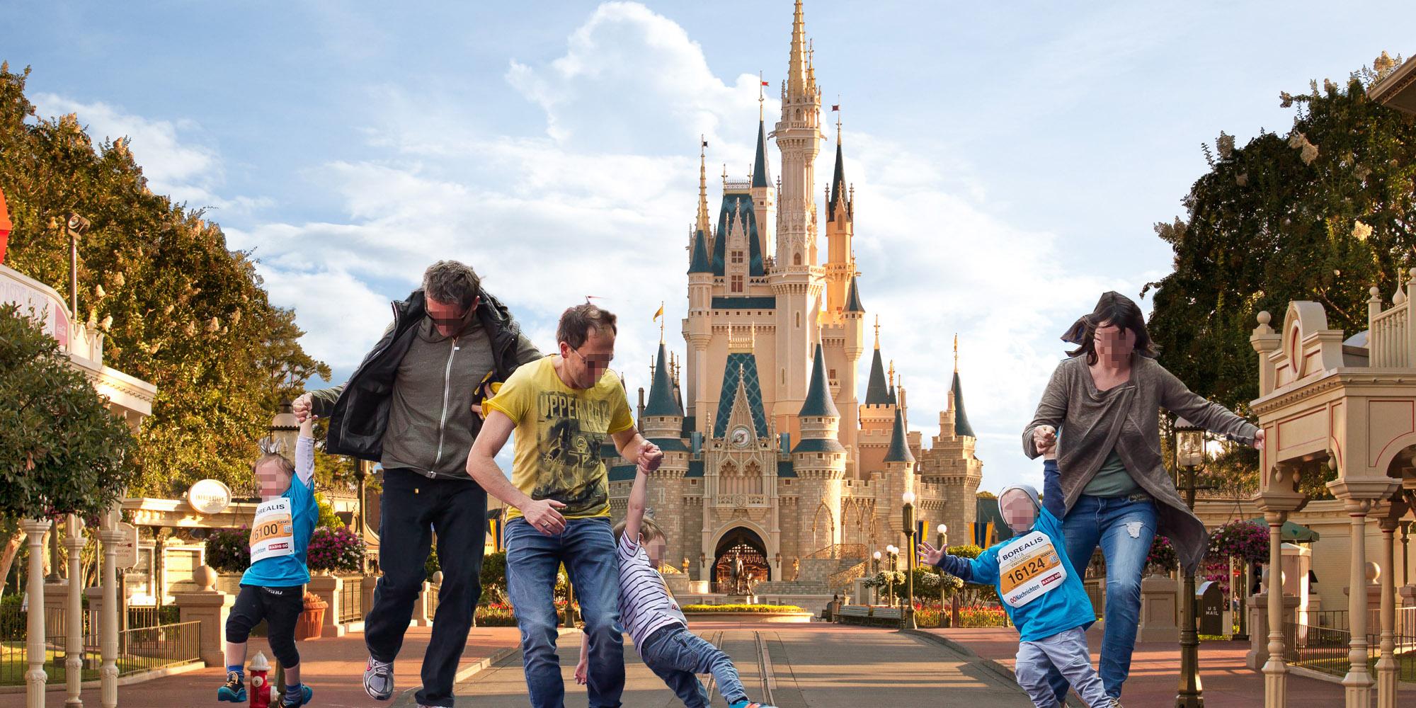 Linzer Marathon-Eltern in Disneyworld Paris