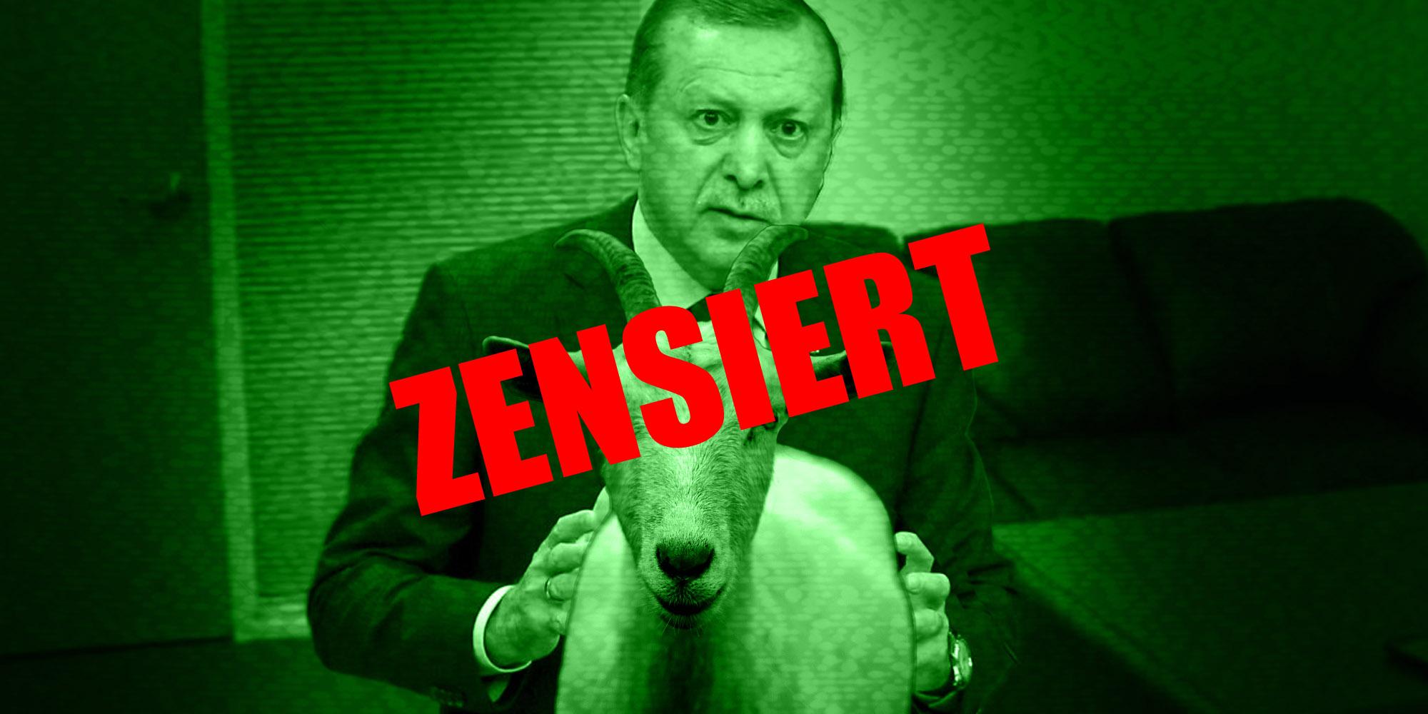Erdogan mit Ziege