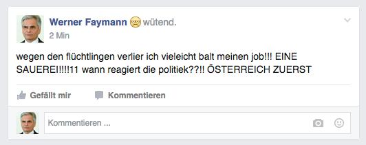 Faymanns Wutposting