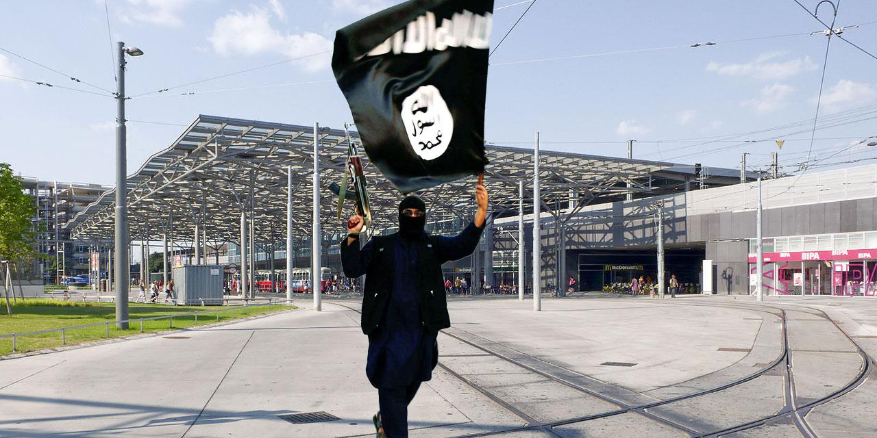 Praterstern mit einem IS-Kämpfer