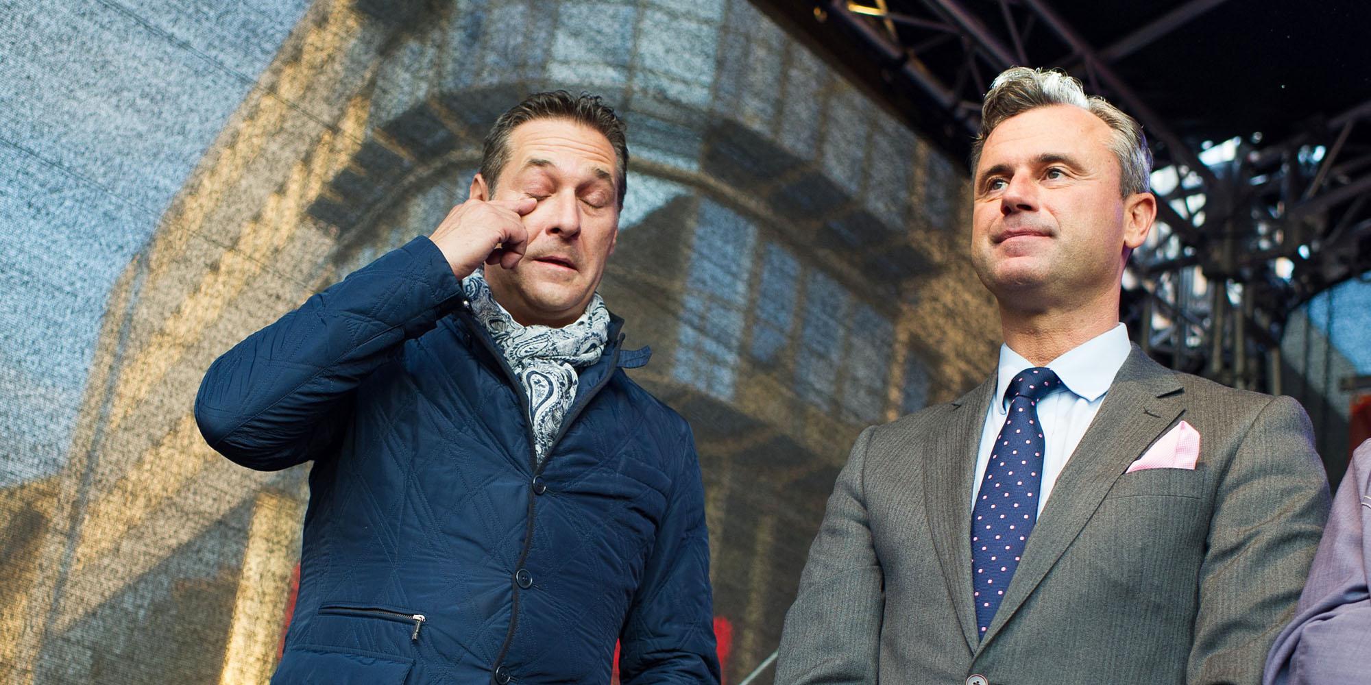 Hofer und Strache. Wahlbetrug
