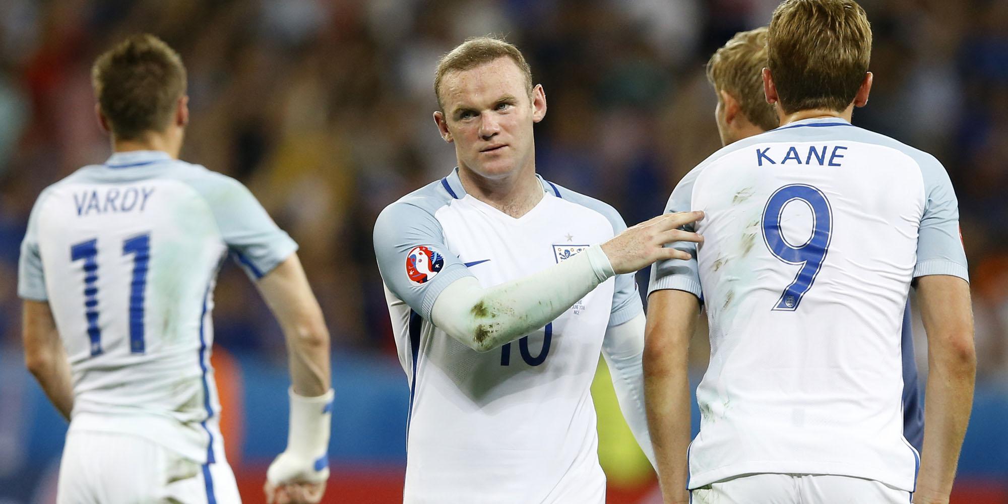 Englische Spieler nach der Niederlage