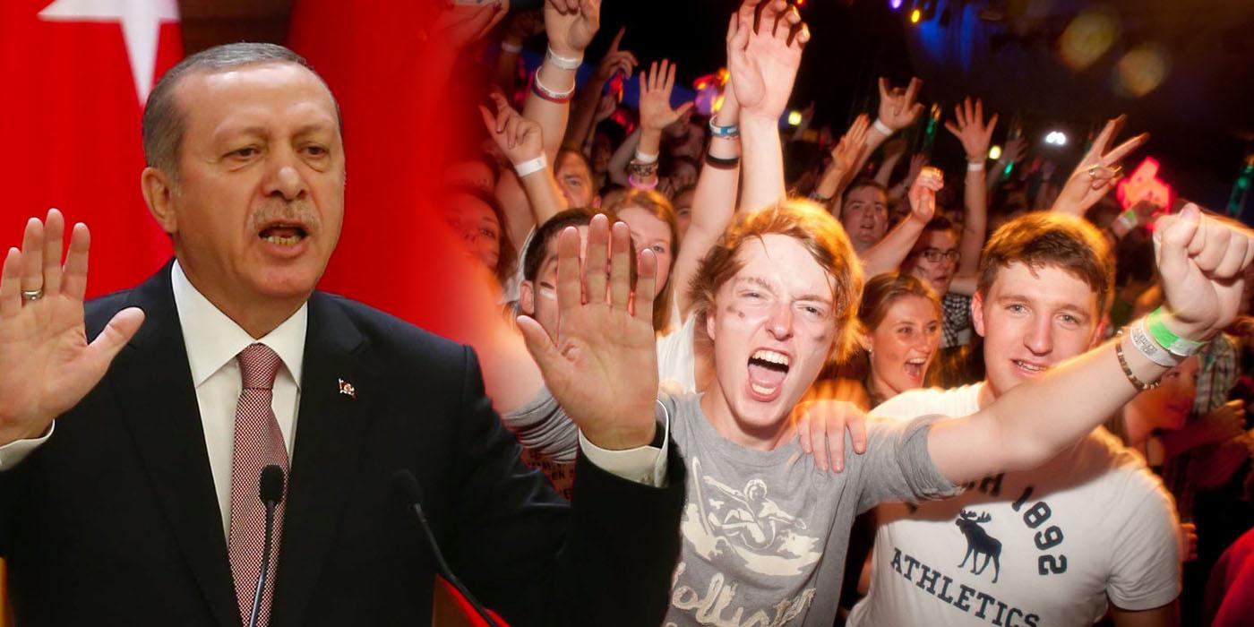 Erdogan und Maturareisende