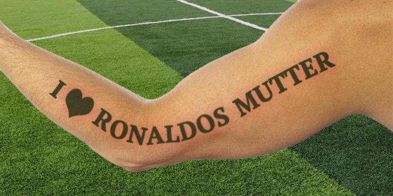 """Arnautovic mit Tattoo """"I love Ronaldos Mutter"""""""