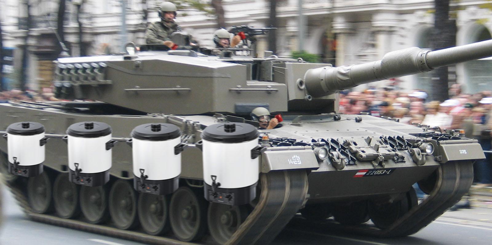 Bundesheer-Panzer mit Punsch