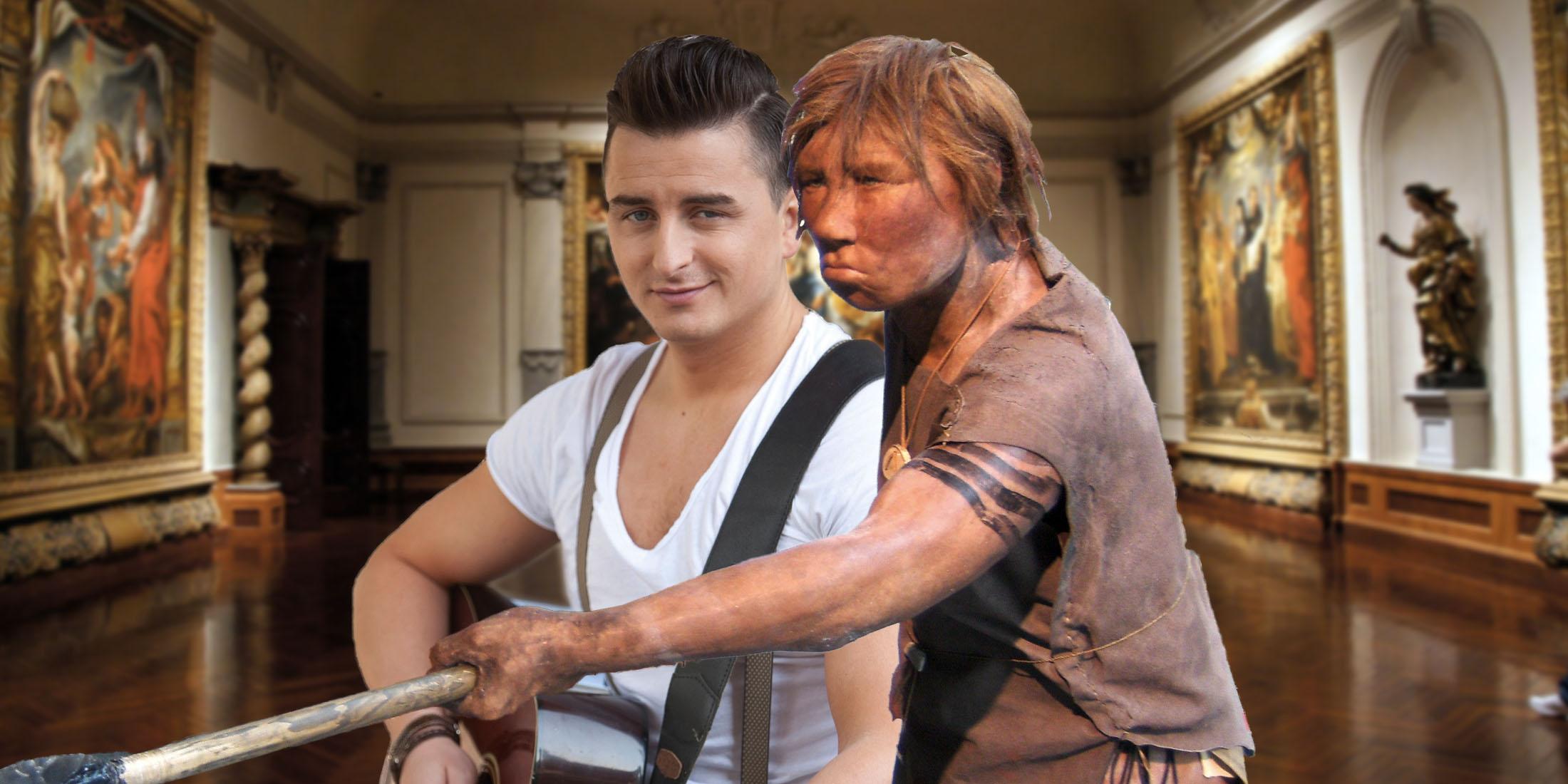 Gabalier und seine Neandertalerin