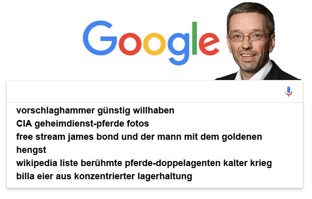 Kickl Google Suchverlauf
