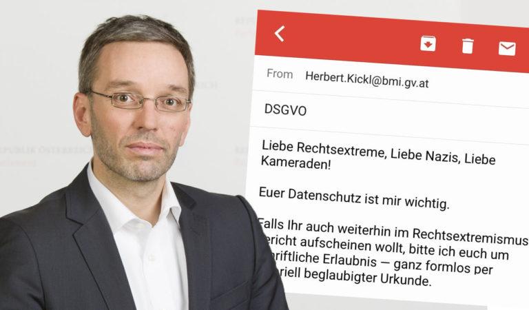 Herbert Kickl und die DSGVO