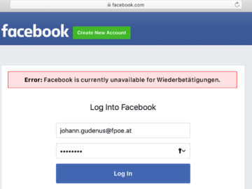 FPÖ Facebook Einzelfall