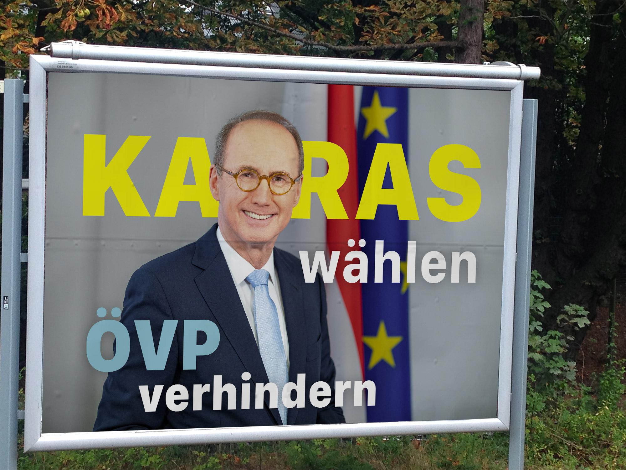 ÖVP Karas Wahlplakat