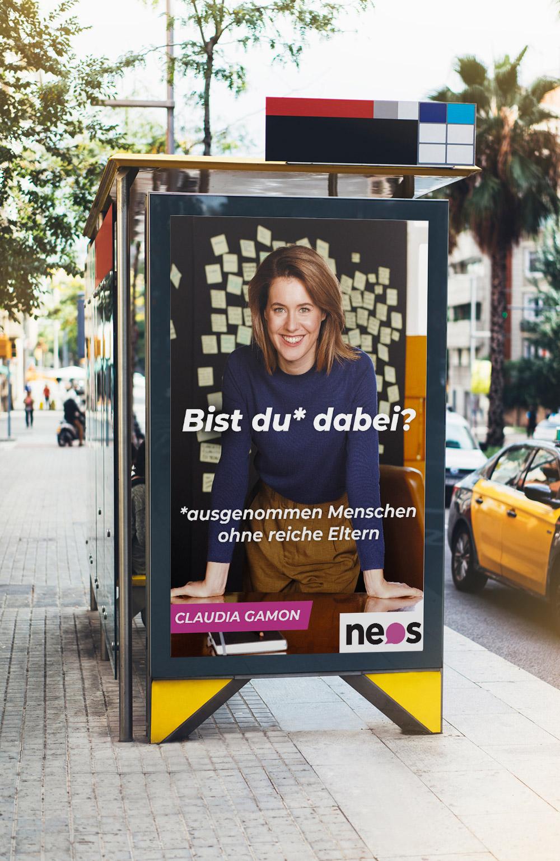 NEOS Wahlplakat