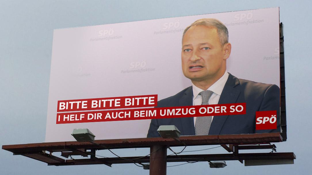 SPÖ Wahlplakat
