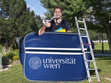 Übergroße Uni Wien Tasche