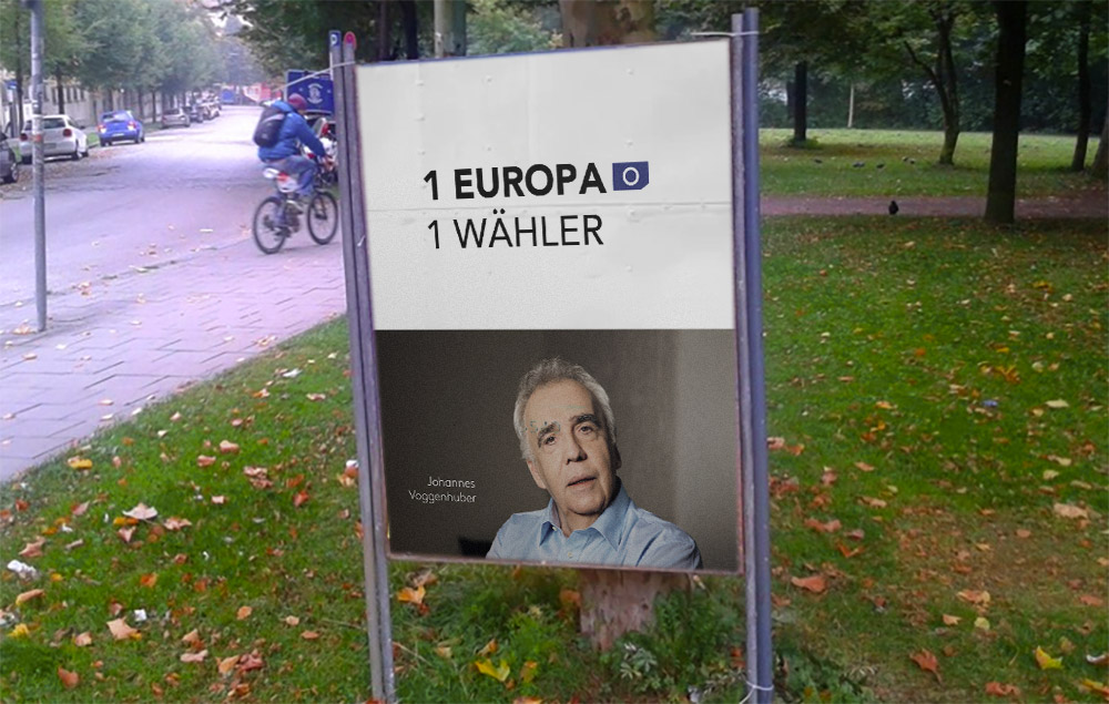 1 Europa Wahlplakat