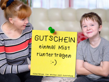 Mutter streitet mit Sohn