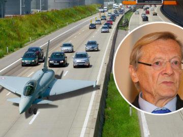 Eurofighter auf der Autobahn A4