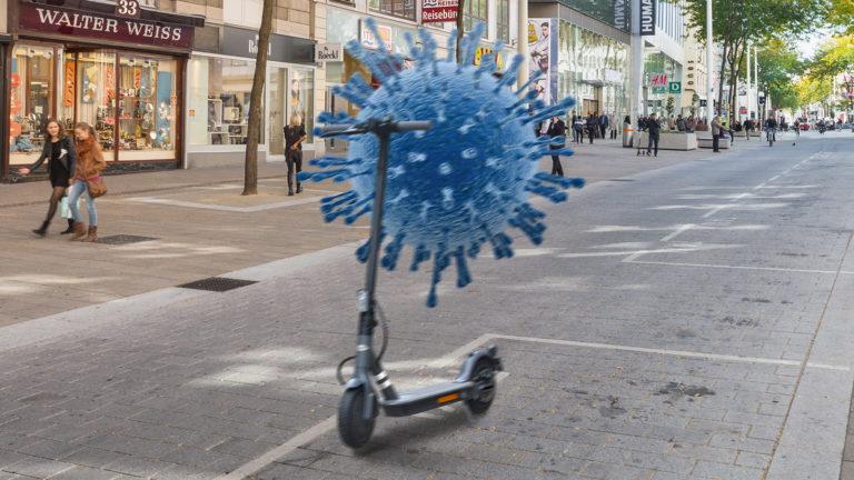 Coronavirus auf E-Scooter