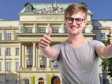 Student vor TU Wien