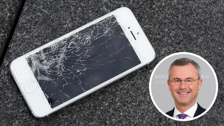 Norbert Hofer, iPhone