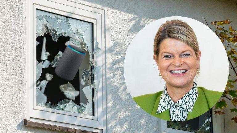 Alexa stürzt sich aus dem Fenster
