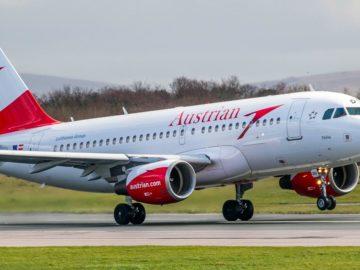 Flugzeug von Austrian Airlines