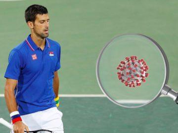 Djokovic neben Coronavirus