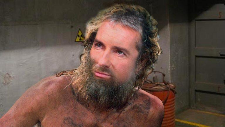 Pariasek im Bunker mit langem Bart