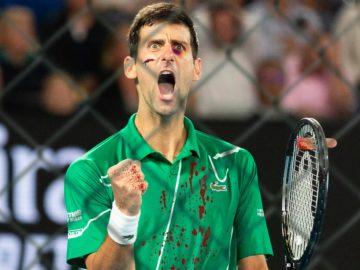 Djokovic blutverschmiert und martialisch
