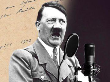 Hitler spricht in Mikro