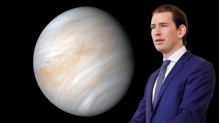 Venus, daneben Kurz