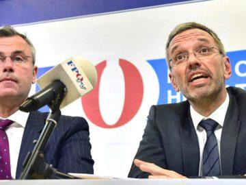 Hofer und Kickl bei Pressekonferenz