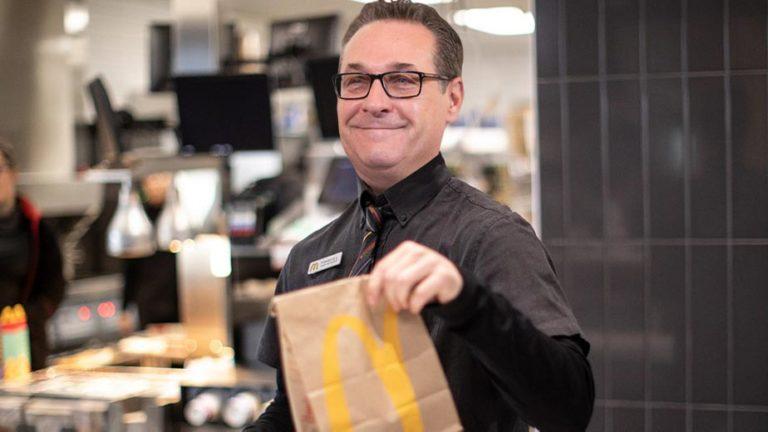 Strache bei McDonald's