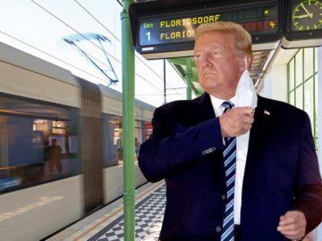 Trump in U6-Station
