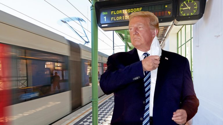 Trump in U6-Station