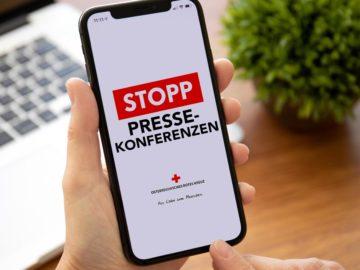 Handy mit Stopp Pressekonferenzen App