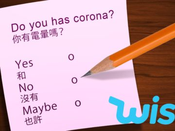 Corona-Test mit Ja und Nein zum selber Ankreuzen