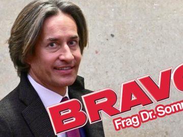 Karl-Heinz Grasser mit Bravo-Logo