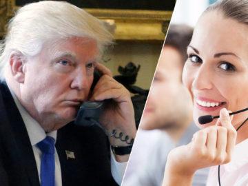 Trump am Telefon mit der Magenta-Hotline