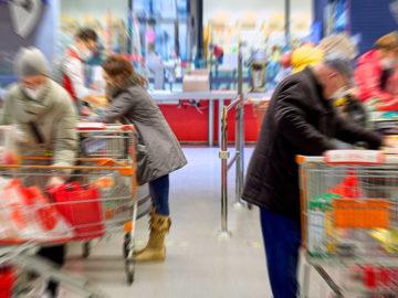 Supermarkt-Kassa