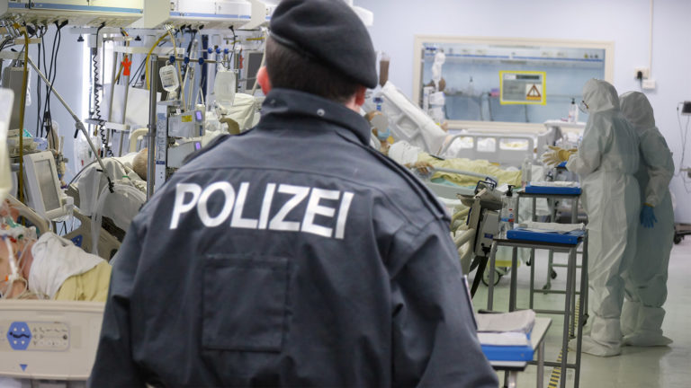 Polizist in Intensivstation