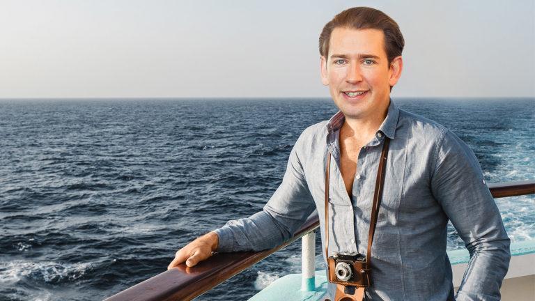 Sebastian Kurz auf Schiff