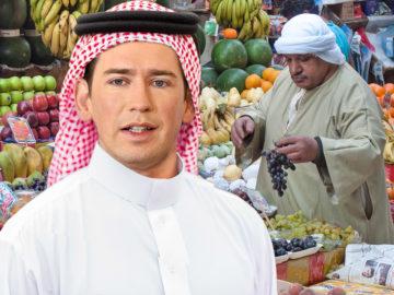 Kurz in Kaftar beim Markt