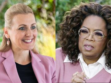 Aschbacher, daneben Oprah